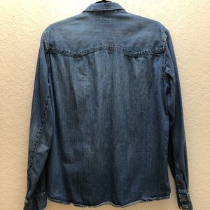 H&M Shirts - H&M Denim Shirt - 100% Cotton